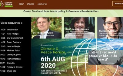 Climate and Peace Forum draws audience from six continents